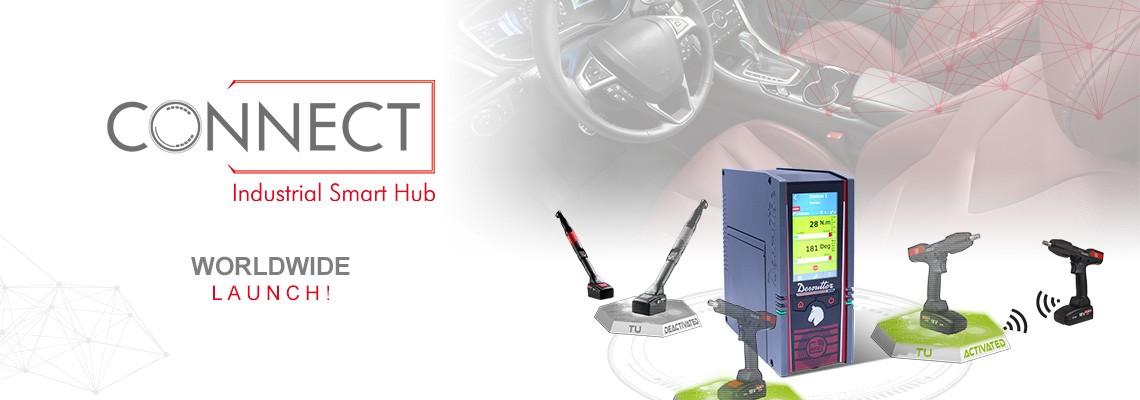 Estamos orgulhosos de apresentar nosso novo Industrial Smart Hub chamado CONNECT: uma solução Desoutter 4.0!