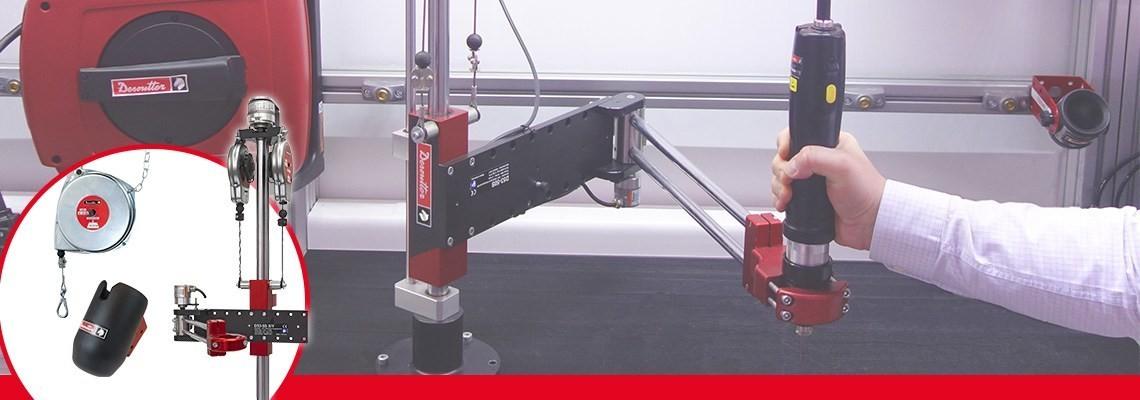 Conheça todos os nossos acessórios de linha de ar industrial para ajudá-lo a otimizar o desempenho de suas ferramentas pneumáticas industriais: FRL, Recolhedores de mangueira,... Peça uma cotação!