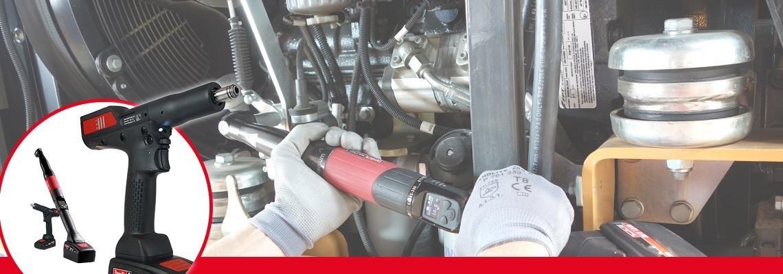Conheça  a série B-Flex da Desoutter Industrial Tools. Otimize seu processo de montagem com ferramentas  angulares / pistola autônomas a bateria transdutorizadas .