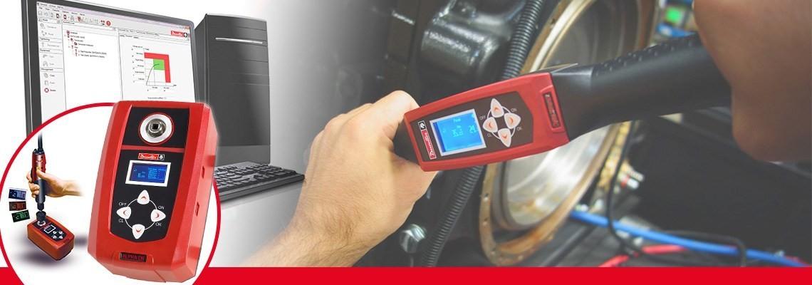 O testador de torque digital Alpha projetado pela Desoutter Tools permite que você monitore e colete resultados de verificação do torque de parafusadeiras, chaves de torque ou torquímetros.